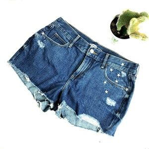 Old Navy Boyfriend 4 Distressed High Rise Shorts